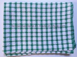 OEM de fábrica produzir Verde Personalizado verifica o algodão Terry toalhas de cozinha
