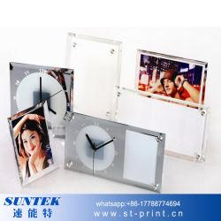 """La sublimation 8 miroir vierge """" cadre photo en verre de chant"""