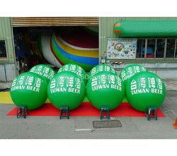 De Opblaasbare Ballon van de Verkoop van de fabriek met de Groene Bal Ihb301 van de Reclame van pvc van de Kleur Plastic