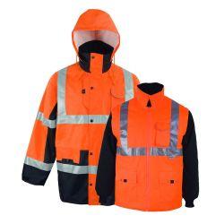 Multifunktionale Reflektierende Sicherheits-Schutzjacke In Orange