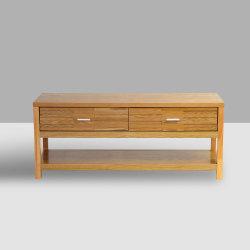 47pulgadas de madera maciza muebles Multimedia TV con 2 estantes Storage