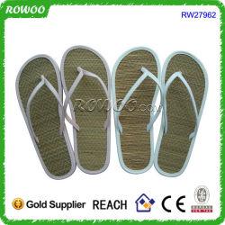 Alfombra de la playa de verano mayorista zapatilla paja Flip Flop (RW27962C)