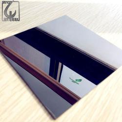 Panneau de l'élévateur de cuivre antique Ti-Gold café 8K Miroir en acier inoxydable brossé revêtement PVD feuille/plaque