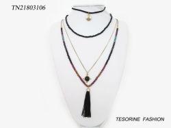 Multi Schicht-Form-Entwurfs-Verkaufsschlager-nachgemachte Schmucksachen bördeln Troddel-Anhänger-Charme-Halskette