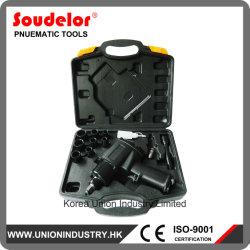 Outil pneumatique auto voiture clé à chocs de l'air de 1/2 Pouce Kit de prise de Ui-1008K