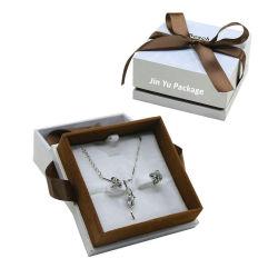 Fait à la main de luxe cadeau personnalisé de gros de bijoux de ruban Emballage