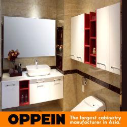 Salle de bains en verre trempé moderne Oppein armoires (OP15-130A)