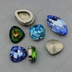 vorm van het Hart van de Perzik van het Element van het Kristal van het Punt van 10*11mm de Achter (DZ-3015)