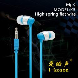 Auriculares de alta calidad plana en los oídos, el precio de fábrica MP3 Auricular de teléfono móvil