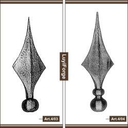 De estilo Europeo lanza de hierro forjado.