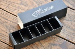 Paper rígido Packing Box con Dividers para Chocolate