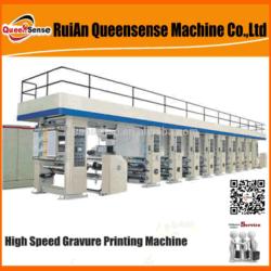 Máquina de impressão Gravure Filme de laminação de Embalagem Sacola de Compras Gravure Imprimir