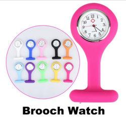 1$ Cheap Pocket infirmière quartz watch Necklace Brooch infirmière Silicone Watch#V958