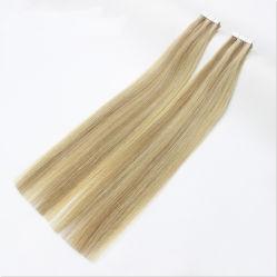 Хорошего качества 100% европейского Virgin Реми ленты для волос цвета P#27/613 заслонки смешения воздушных потоков