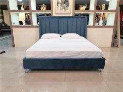 Tecido Velet cabeceira elevada Sofá-Cama King Mobiliário de quarto