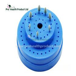 60의 구멍 파란 둥근 플라스틱 치과 Bur 홀더 상자