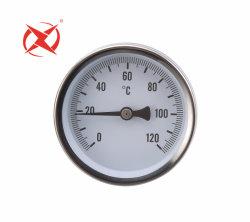 '' Zoll 2.5 Chrom-Überzug-Gehäusetemperatur-Anzeigeinstrument mit Sprung-Noten-Messinstrument