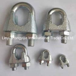 마레블 철선 로프 클램프 예: DIN741/DIN1142/유형 A/유형 B/us 유형 단조 와이어 로프 클립