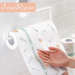 環境に優しい皿タオルの再使用可能なタケペーパータオルの台所タオルロール清拭布