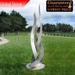 조경 실외 맞춤형 스테인리스 스틸 동상 정원 장식(GSST-111)