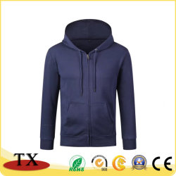 Haute qualité faits de coton à manches longues et d'usure Sprots T-shirt robe de vêtements en laine polaire avec fermeture à glissière