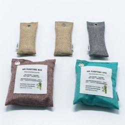 自然な空気浄化袋の自然なタケ木炭袋の芳香剤の臭気のエリミネーター