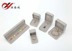 Emballage cadeau velours gris Bijoux Box Set détenteur de bijoux