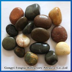 Mélange de couleur naturelle de galets de galets en pierre polie en pierre de la rivière
