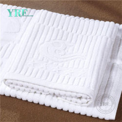 Oferta de hoteles nuevos productos de la absorción de agua de Jacquard cómodo toalla blanca