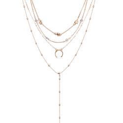過大視された卸し売り上デザイン女性の方法ネックレスの宝石類のアクセサリはネックレスを層にした