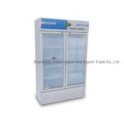 سوبر ماركت عمودي باب زجاجي فردي المشروبات ثلاجة شاشة خزانة