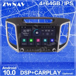 GPS van de Navigatie van het 10 Scherm van Carplay Androïde voor van 2018 van 2017 van 2016 van 2015 van Hyundai IX25 2014 de Auto Radio Stereo HoofdEenheid Van verschillende media van de Speler
