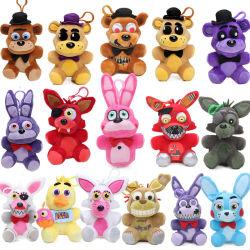 Bonnie Gouden Freddy Nightmare Fredbear Bear Keychain Vijf Nachten bij Gevulde Stuk speelgoed van de Pluche van het Stuk speelgoed van het Stuk speelgoed van de Jonge geitjes van Freddy het Dierlijke Stuk speelgoed