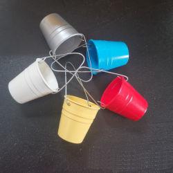 Completo Mini cubo de plástico con asa colorido para 1/12 Casa de Muñecas 1/10 Coche RC Carretilla Accesorios
