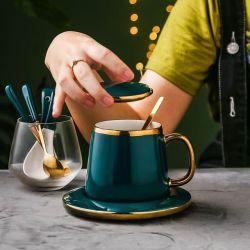 Logo personnalisé de boire la tasse de café coloré Portable porcelaine Mug en céramique défini