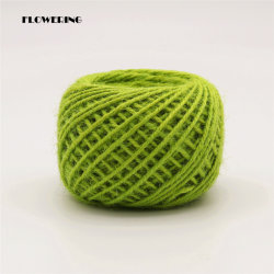 Chinese New Arrival Hot-Sale Jute Rope Twine for Home Decorate, Holidays, Tuinieren, DIY, Packing, Fles, Bloemwikkelen, Apple Green