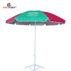 Het grote UVZilver van Oxford van de Paraplu van de Zon van de Reclame dat met de Druk van het Embleem met een laag wordt bedekt met draagt Zak 180/200