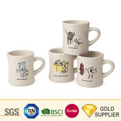 El hueso nuevo logotipo personalizado promocional China Foto impresa por sublimación de esmalte, café, té, sopa de Cerveza Cristal Color creativo diseño de gres cerámico de la placa de viajes taza Mug