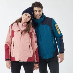Melange van de Mannen van de Vrouwen van het Jasje van de Ski van de Winter van het contrast de Slijtage B van de Ski van de Kleur