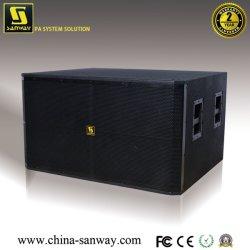 El SRX728S de doble 18'' mejor el sonido del altavoz Subwoofer Box gabinete