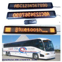 Raad van de amber Hoge semi-Openlucht LEIDENE van de Helderheid de Programmeerbare Blauwe Communicatie van de Tand Lopende Vertoning van het Bericht voor Bus