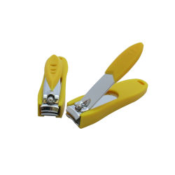 Accesorios de belleza con llavero pequeño alicates cutículas Nail Clippers con cubierta de plástico (608S-3)