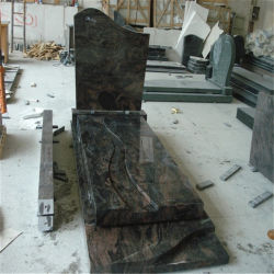 Polished 기념물 묘석을%s 오로라 화강암 석판 화강암 돌