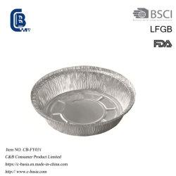 Одноразовые круглой формы для выпечки из алюминиевой фольги торт гриль круговой диаграммы доски пластину