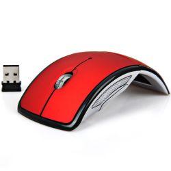 2.4G 무선 마우스 2 바탕 화면과 휴대용 컴퓨터를 위한 접히는 아크 광학 마우스,