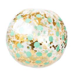 卸し売りカスタムロゴの透明なきらめきのビーチボール