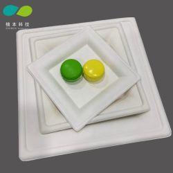 10-дюймовый торт Biodegrable квадратных бумаги продовольственной фруктовый салат пластину/лотка для бумаги