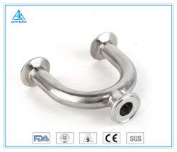 Medidas sanitárias de aço inoxidável a braçadeira em U reduzindo de tipo T (Curto) 3A/SMS/DIN/ISO/IDF 304/316L