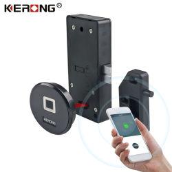 KERONG alto estilo electrónico inteligente Empotrado gabinete de seguridad biométrico de huellas dactilares Locker Lock con Bluetooth Control de la App.