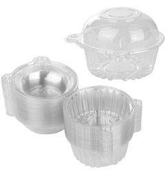 Haustier-Plastikkuchen-Zinn mit wiederversiegelbarem Kappen-Kasten